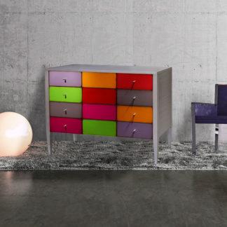 Commode couleur 4 grands tiroirs Réf : 754